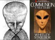 """Aiwass, compared alongside grey alien from cover of the book """"Communion"""""""