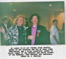 Bishop Allen Greenfield (Right) with friend Timothy Green Beckley