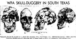 Giant skulls uncovered in Texas.