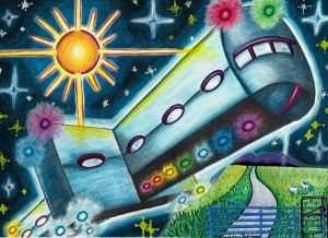 Warminster UFOs came in many shapes and sizes, as depicted by artist Carol Ann Rodriguez.
