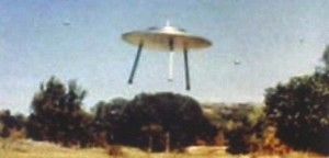 """One of the small """"scout craft"""" that Villa photographed preparing to land."""