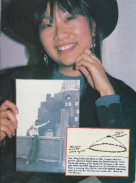 May Pang was there when John Lennon had his famous UFO sighting as he stood naked on the balcony of the famed Dakota apartment building where he was later shot to death.