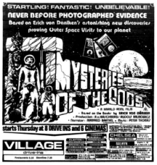 "William Shatner flip-flopped on his UFO experience. First he said it was real and then he said he made it up for publicity. He once hosted a movie called ""Mysteries Of The Gods."""