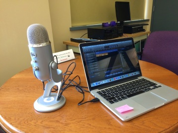 setup for podcast