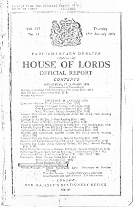 Brinsley official house of lords ufo report