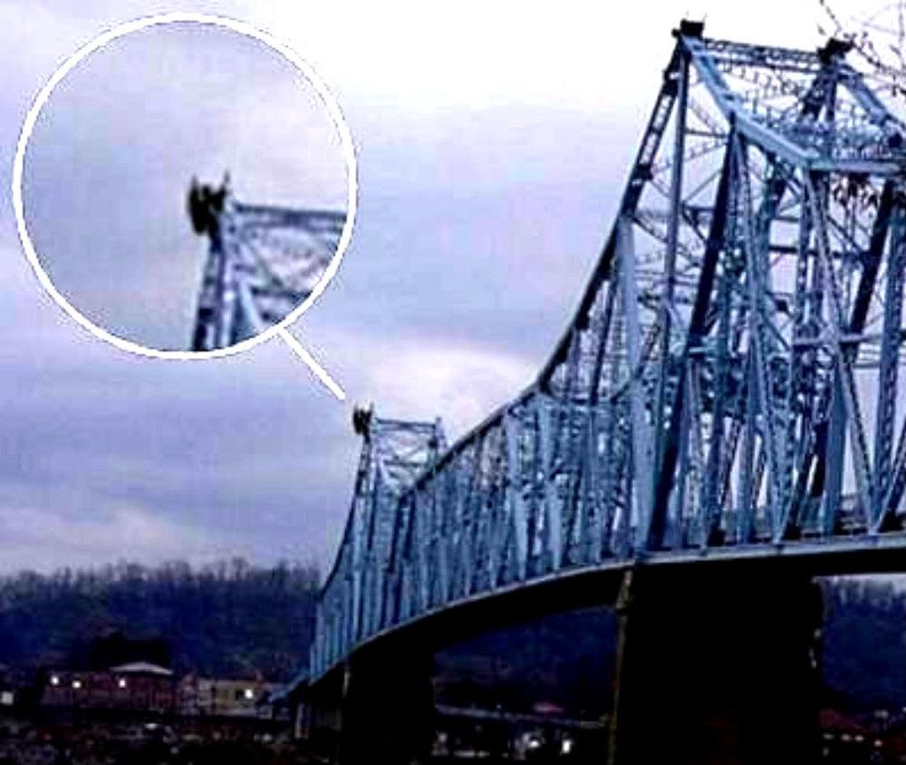Mothman on top Silver Bridge