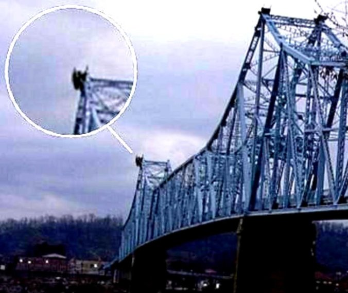 Mothman on top Silver Bridge