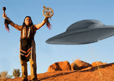 native american indian and ufo