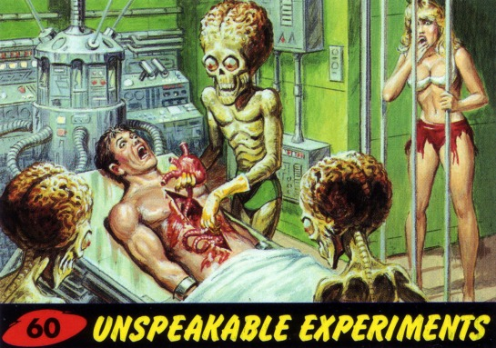 Mars Attacks card alien sex cinema